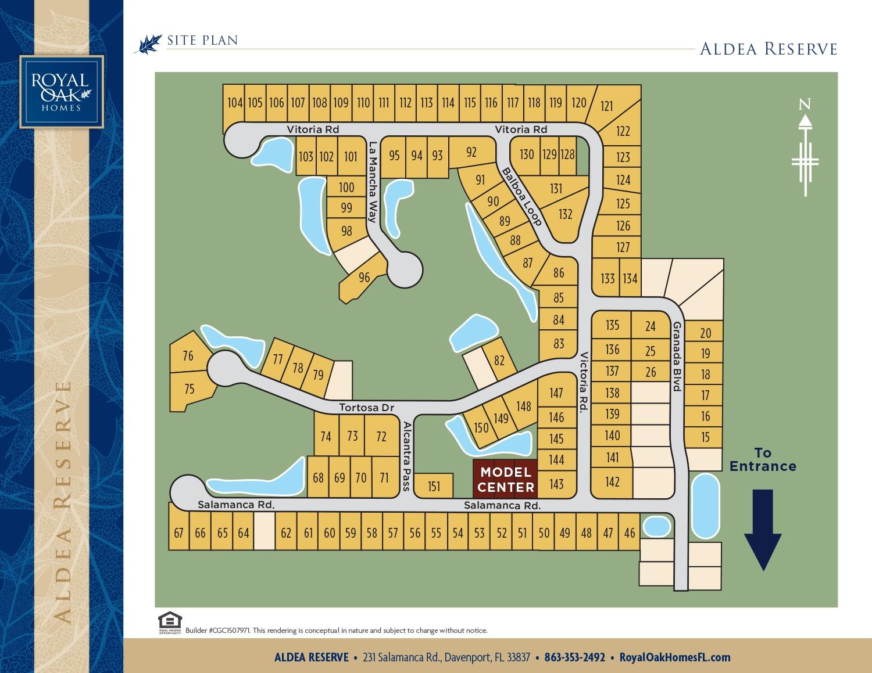 Aldea Reserve Davenport Site Map