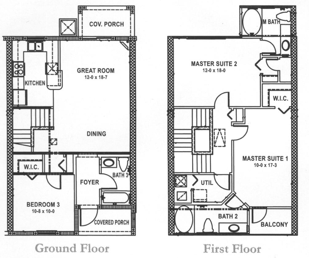 3 Bed Townhouse Floorplan