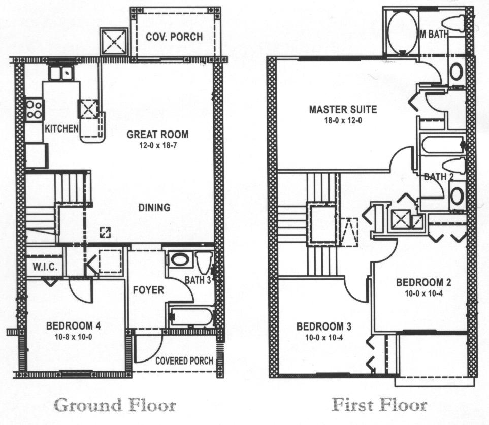 4 Bed Townhouse Floorplan