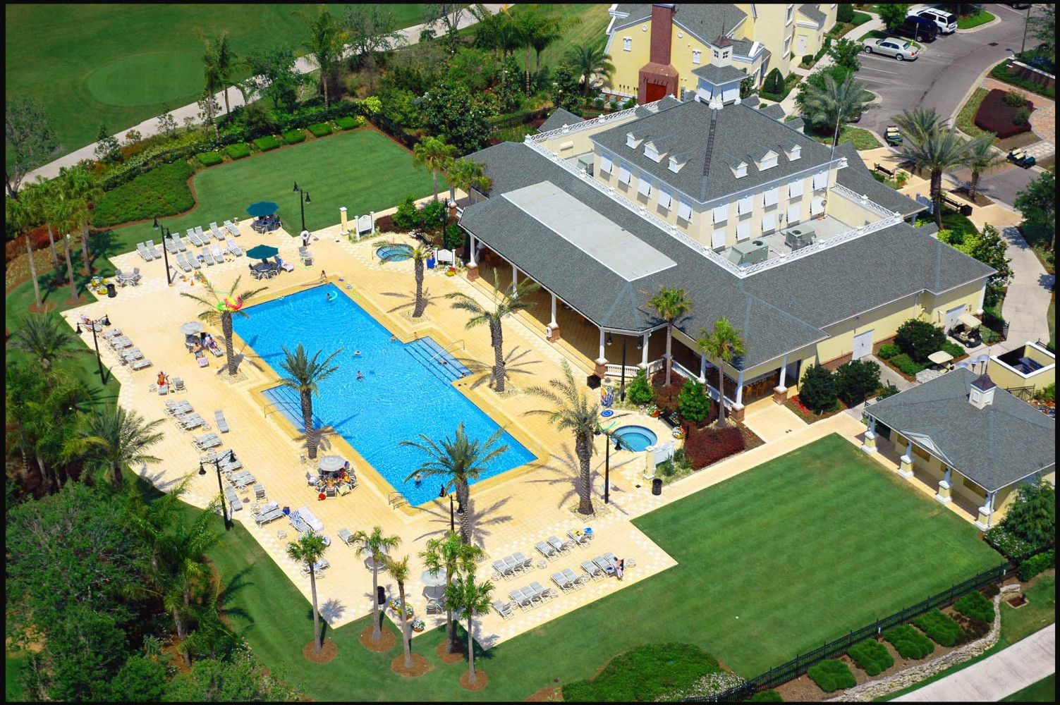 Seven Eagles Clubhouse / Pool overview at Reunion Resort