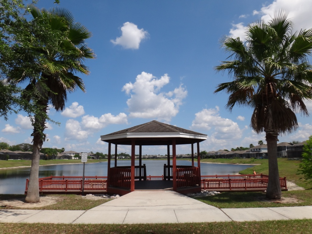 Sunset Lakes Community  Dock and Gazebo