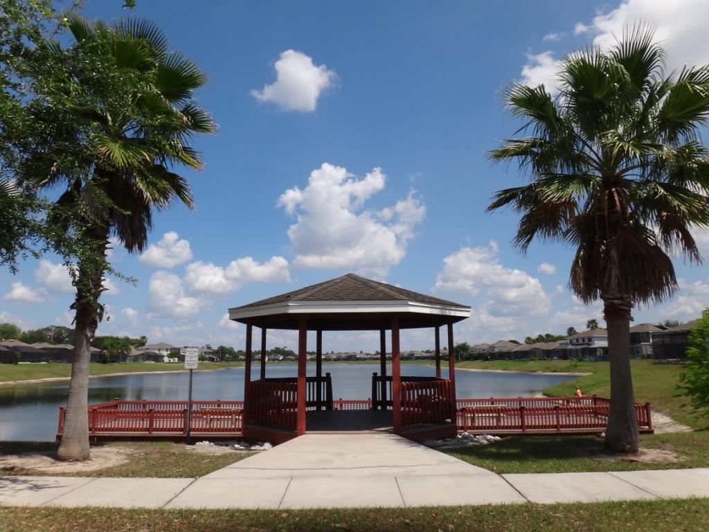Sunset Lakes Community  Dock and Gazebo