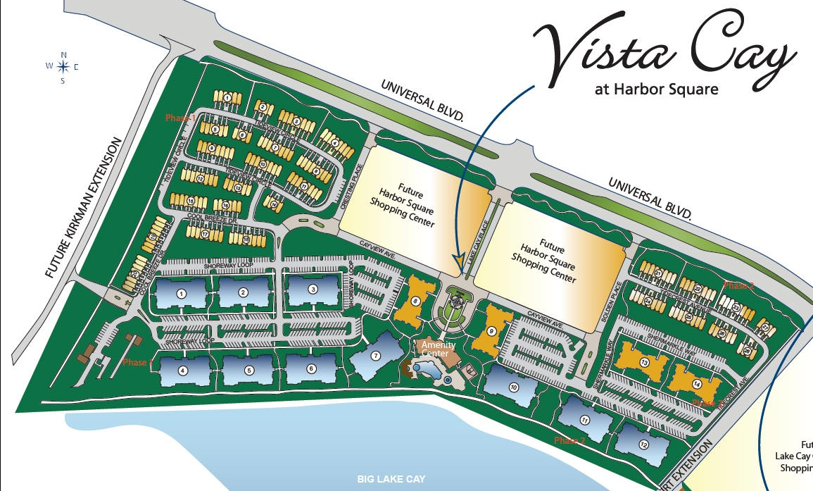 Vista Cay Resort Siteplan