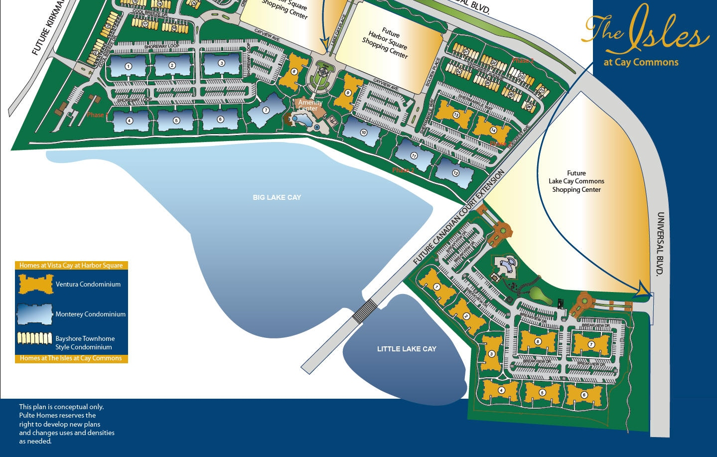 Vista Cay & The Isles Of Cay Siteplan
