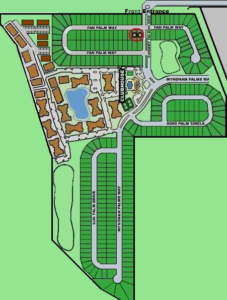 Windsor Palms Resort Sitemap